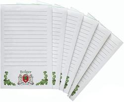 USA Bolger Irish Coat Of Arms Notepads - Set Of 6