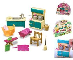 Li'l Woodzeez Kitchenette And Housekeeping Set
