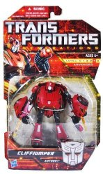 Transformers Generations Series Deluxe Class 6 Inch Tall Robot Action Figure - Autobot Cliffjumper With 2 Blades Vehicle Mode: C