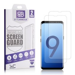 Bytearmour Tempered Glass Screen Protector For Samsung Galaxy S9 - 2 Pack