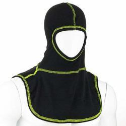 Majestic Pac II Black Hood W high Vis Yellow Threading - High-vis Yellow Stitching
