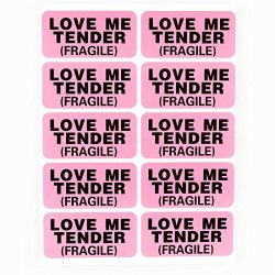 "Shenzhen Medevelop 1000PCS 1X2"" Pink Fragile Love Me Tender Gift Jewelry Shipping Label Whole Custom Labels"