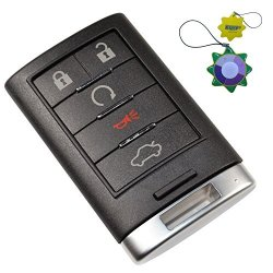 HQRP Remote Key Fob Shell Case Keyless Entry W 5 Buttons For Cadillac Srx 2010 2011 2012 2013 2014 Xts Ats 2013 2014 Plus Uv Meter