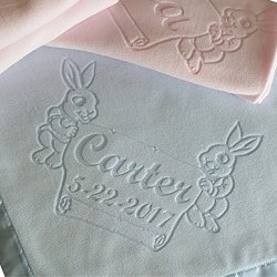 Custom Catch Large Personalized Baby Blanket Bunnies Boys Or Girls Gifts