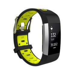 Killerdeals Silicone Strap For Fitbit Charge 2 - Black & Yellow