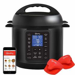Mealthy Multipot 9-IN-1 Programmable Pressure Cooker With Stainless Steel Pot Steamer Basket Full Accessory Kit & Recipe App. Pressure Cook Slow Cook Saut Egg