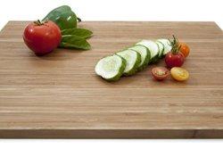 """XL Bamboo Serving Tray. Lightweight Wooden Bread Cutting Board. 17"""" X 11 3 4"""" Rectangular"""
