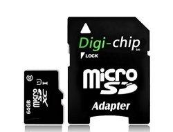 Digi-Chip 64GB Class 10 Micro-sd Memory Card For Huawei Mate 8 And Huawei Enjoy 5S Phone Smartphone