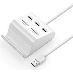 UGreen 3 Port Hub And Card Reader USB 3.0WHITE