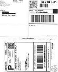 "500 Self Adhesive Shipping Labels 2 Per 8.5 X 11"" Sheet"