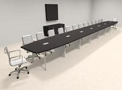 Modern Boat Shaped 30' Feet Conference Table OF-CON-CV83