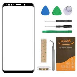 Crazyfire Compatible With Samsung Galaxy S9 G960F Front Outer Touch Screen Glass Lens Replacement With Repair Tool Kit For SM-G9