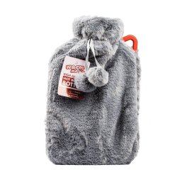 Hot Water Bottle With Cover 2LITRE - Maroon