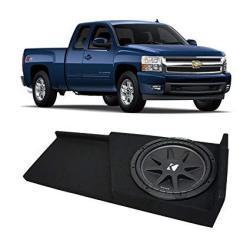 Fits 2007-2013 Chevy Silverado Ext Cab Truck Kicker Comp C12 Single 12 Sub Box Enclosure - Final 4 Ohm