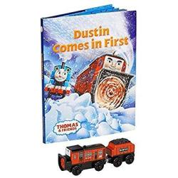 Thomas & Friends Wooden Railway Dustin Comes In First Book Pack