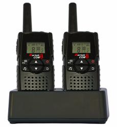 Zartek - Com8 Super Pack Two Way Radios - Black