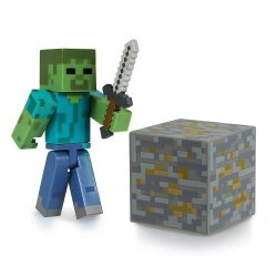 Jazwares Domestic Minecraft Core Zombie Action Figure With Accessory
