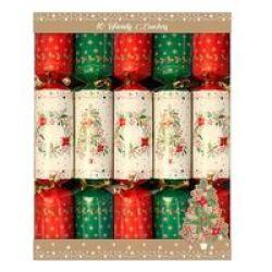 AK Press Ak 10 Tree And Wreath 12 Christmas Crackers