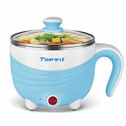 Electric Hot Pot 1.5L Rapid Noodles Cooker MINI Pot Cook Perfect For Ramen Egg Pasta Dumplings Soup Porridge Oatmeal Blue - A Must Have
