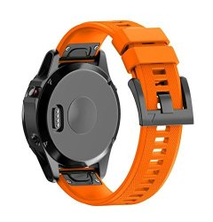 ZTY66 Soft Quick Release Silica Gel Watch Band Of Replacement With Pin Buckle For Garmin Fenix 5X Gps Watch Orange