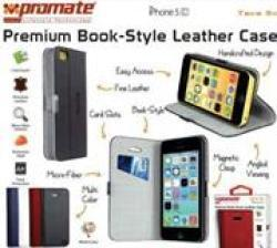 Promate Tava 5C Book-style Flip Case iPhone5C In White