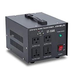 1500W Voltage Converter Transformer Step Up And Down Converter 110V To 220V With USB Port Dual Circuit Breaker Protection 1500W
