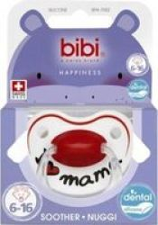 Bibi Happiness Silicone Soother 6 - 16 Months Mum dad Supplied May Vary