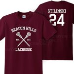MARS Ny Women's Unisex Teen Wolf Beacon Hills Lacrosse Stilinski 24 Tshirt Medium