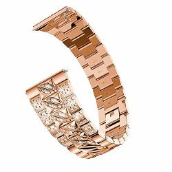GALAXY Watch 46MM Bands Highlifes Solid Stainless Steel Metal Watch Band Quick Release Strap Samsung Rose Gold