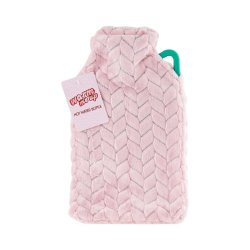 Hot Water Bottle With Cover 2L - Pink
