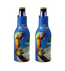 Corona Extra Macaw Parrot Beer Bottle Suit Holder Cooler Kaddy Huggie Set Of 2
