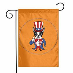 Yangxih American Boston Terrier Rescue Garden Flag House Yard Seasonal Banner With Vivid Color And Uv Fade Resistant For Outdoor indoor Home Decor Party And