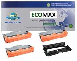 4PK Ecomax New 1 DR630 + 3 TN660 Compatible Black Drum And Hy Toner Cartridge Set Replacement Use For Brother DCP-L2520DW HL-L2380DW HL-L2360DW HL-2320D