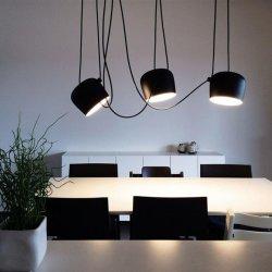 Iron Pulley Modern Pendant Lights 3 5 7