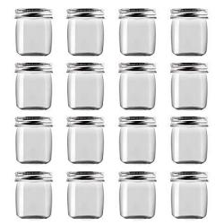 Novelinks 8 Ounce Clear Plastic Jars Containers With Screw On Lids - Refillable Round Empty Plastic Slime Storage Containers For