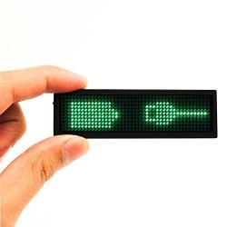MECO Green LED Name Tag EZ01 Name Badge Reuseable Price Tag Rechargeable Id Tag Office Megnetic Name Tags Microusb Programming Digital Sign 11X44 W