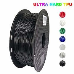 Kehuashina Tpu Filament 1.75MM Diameter For 3D Printer Ultrahard 72D Tpu 1KG 2.2LB Spool 3D Printer Supplies Accessories Black