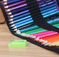 Changsha Hangang Technology Ltd Hangang Premium Colored Pencils For Adults Set Of 50 - Includes Colored Pencils Pouch Bag Pencil Sharpener - Perfect Coloring Pencils For Adult Coloring Books