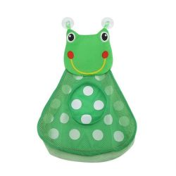 Baby Bath Storage Mesh Bag With Suction Cups Frog