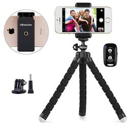 Phone Tripod Ubeesize Portable And Adjustable Camera Stand Holder With Wireless Remote And Universal Clip Compatible With I Android Camera Sports Camera Gopro