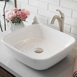 Kraus C-KCV-127-1200SFS Elavo Arlo Bathroom Set Sink Faucet Stainless Brushed Nickel