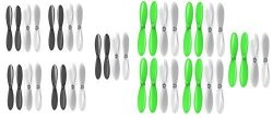 Holy Stone HS170 Predator Qty: 1 Green Clear Propeller Blades Props 5X Propellers Transparent Qty: 1 Black