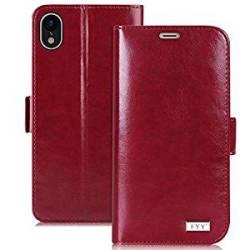 FYY Iphone Xr Case Premium Pu Leather Flip Wallet Phone Case Prevent Card Informat