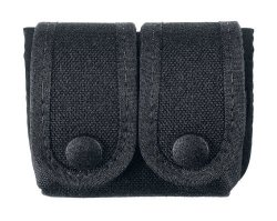 Uncle Mike's Off-duty And Concealment Accessory Kodra Double Snap Close Speedloader Case Black