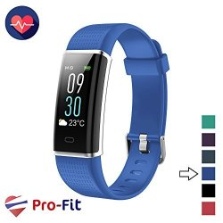 Pro-fit Fitness Tracker Activity Tracker With Color Screen Heart Rate Monitor 14 Sports Modes & Sleep Monitor IP67 Waterproof Pedometer Watch Veryfitpro Smart Wristband Android & Ios Blue