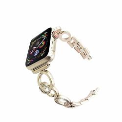 707a18e40857 Lyperkin Compatible Apple Watch Series 4 Band 40MM Luxurious Stainless Steel  Ring Type Wristband Bracelet Band Replacement Strap