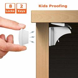Child Safety Locks For Kitchen Living Room Bathroom Invisible Baby Proof Magnetic Cabinet Locks For Cabinets Cupboard Drawers