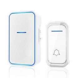 Wireless Doorbell Kit Plug And Play Door Bell Operating At 1000 Feet With 38 Melodies LED Flash And 4 Adjustable Volume Levels For Home