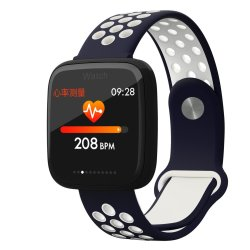 "Xanes F15 1.3"" Ips Color Screen Waterproof Smart Watch Heart Rate Monitor Fitness Bracelet Fitbit Mi Band - Blue White"