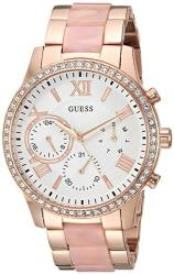 Guess Rose Gold-tone + Pink Bracelet Watch With Day Date + 24 Hour Military int'l Time. Color: Rose Gold Model: U1211L1